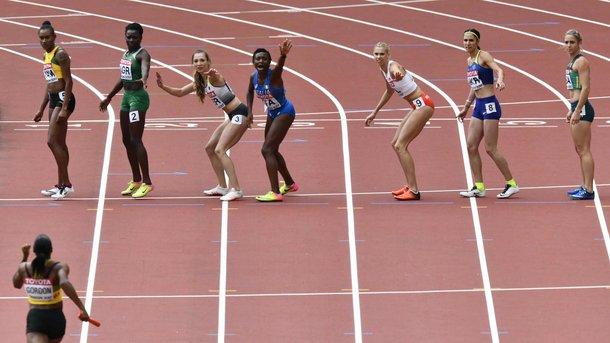 Украинки не добежали до финала в эстафете 4х400 метров на ЧМ в Лондоне
