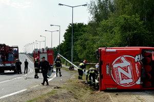 В Польше перевернулся автобус: ранены 28 человек, семь – в тяжелом состоянии