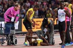 Появилось видео, как Усейн Болт упал во время эстафеты на чемпионате мира