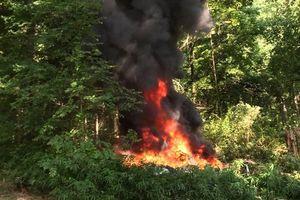 В США разбился полицейский вертолет, никто не выжил