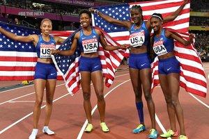 Сборная США выиграла женскую эстафету 4х400 метров на чемпионате мира