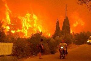 В Греции вспыхнул страшный пожар: в МИДе Украины сделали заявление