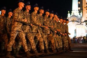 На Крещатике прошла репетиция военного парада ко Дню независимости