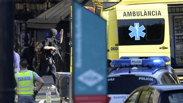 СМИ говорили о  задержании подозреваемого втеракте вБарселоне