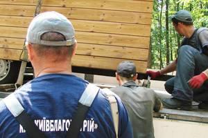 В киевском парке имени Рыльского снесли незаконные киоски
