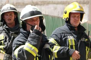 В Киеве мужчина застрял на пожарной лестнице