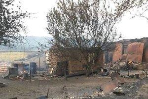 На Донбассе пожар почти уничтожил село
