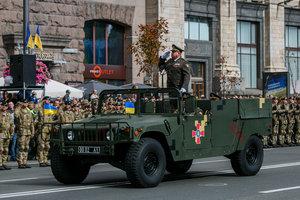 Празднование Дня Независимости Украины: впечатляющие фото военного парада на Крещатике