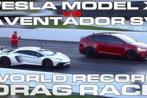 Видеохит: Tesla обогнал Lamborghini и установил мировой рекорд