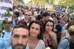 В Барселоне прошел марш против терроризма