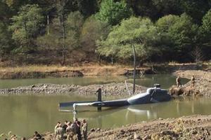 В Грузии рухнул в ущелье вертолет: опубликовано видео