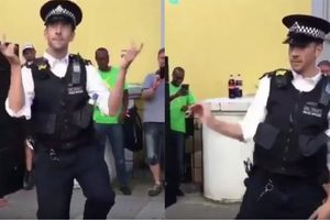 """Лондонский полицейский """"взорвал"""" толпу своим танцем"""
