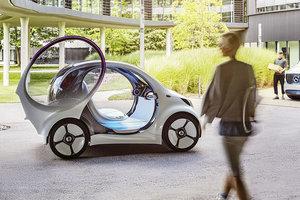 Smart показал городскую машину будущего без руля и педалей