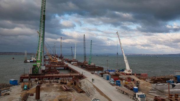 Строительство Керченского моста. Фото: most.life
