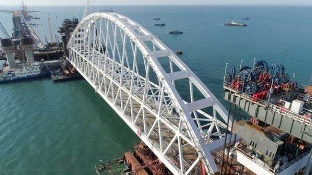 Строительство моста. Фото: Крымский мост