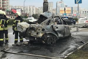 Подробности взрыва машины в Киеве: водитель выжил чудом