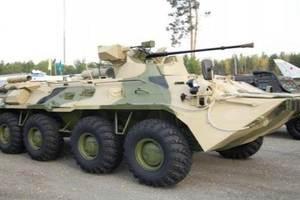 В России солдат развел костер и сжег новый БТР