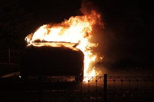 В Киеве за ночь сгорели две иномарки
