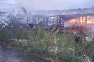 В Киеве дотла сгорел ресторан на воде