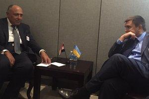 Глава МИД Украины встретился с коллегой из Египта