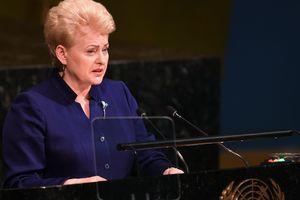 Грибаускайте в ООН: Россия шантажирует и запугивает Украину