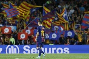 """51 645 болельщиков на матче - худший результат """"Барселоны"""" за шесть лет"""