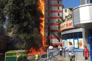 В России горело 10-этажное здание: появилось видео