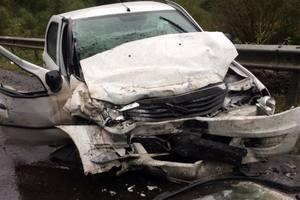 На трассе Киев - Чоп столкнулись микроавтобус и легковушка: четверо пострадавших