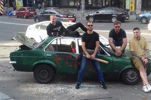 Авто в центре Киева разбили с разрешения полиции – Крищенко