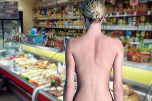 Видеошок: в России буйная покупательница разделась догола в супермаркете