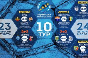 Чемпионат Украины: расписание и результаты 10 тура, таблица Премьер-лиги