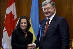 Порошенко рассчитывает на поддержку Канады по санкциям против РФ