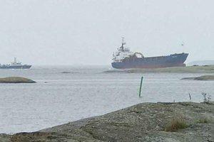 В Швеции село на мель судно с российским экипажем
