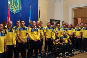 Спортсмены сборной на торжественных проводах в Украине