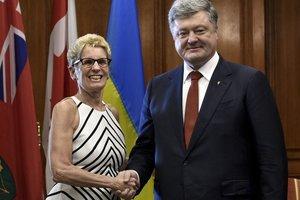 Порошенко провел встречу с премьером канадской провинции Онтарио