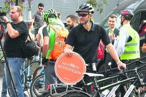 Киевляне массово пересели на велосипеды