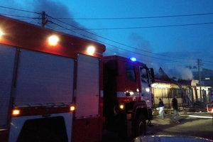 В Полтаве мощный пожар охватил центральный рынок