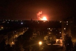 Генштаб: В Калиновке горит 10 процентов от площади арсенала