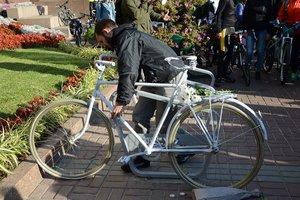 Возле КГГА появился велосипед-призрак