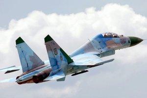 В Хмельницкой области упал военный самолет