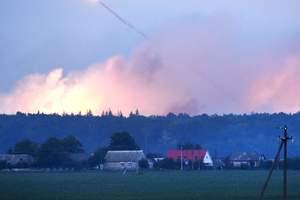 На складах боеприпасов в Калиновке раздались единичные взрывы