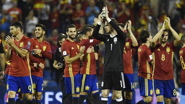 Сборная Испании завоевала путёвку начемпионат мира в Российской Федерации