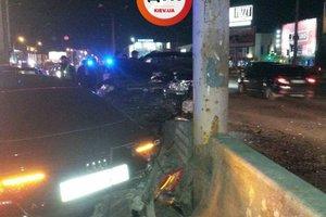 Ночью в Киеве произошло массовое ДТП