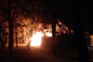 Масштабный пожар в Киеве: дотла сгорело кафе