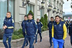 Прогулка сборной Украины перед матчем с Хорватией