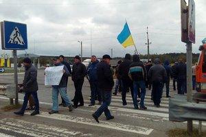 """На Волыни шахтеры перекрыли трассу """"Киев-Варшава"""""""