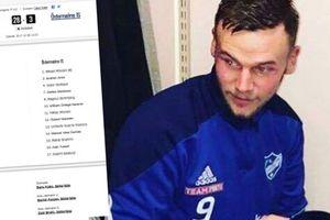Футболист с похмелья забил 21 гол в матче чемпионата Швеции