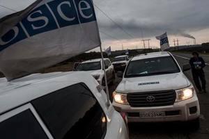 Наблюдатели ОБСЕ и военные устроили ДТП на Донбассе