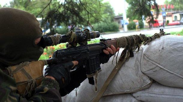 ВДонецкой области снайпер боевиков подстрелил украинского пограничника