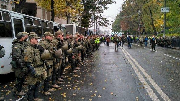 Протестующие вКиеве собираются идти кадминистрации Порошенко